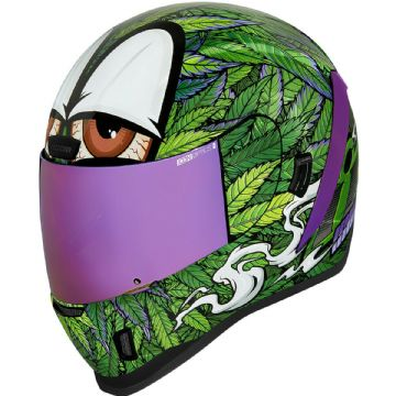 Icon Airform Ritemind Full Face Motorcycle Motorbike Helmet Free Purple Visor